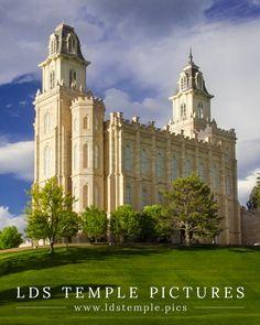 Manti Utah Temple Evening Light - LDS Temple Pictures