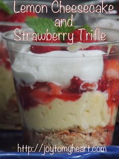 Yes, I'm pretty sure you want to pin this one…..Lemon Cheesecake and Strawberry Trifle ;) it's delicious….