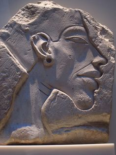 "Relief Portrait of Akhenaten - Neues Museum, Berlin | Akhenaten also spelled Echnaton, Akhenaton, Ikhnaton, and Khuenaten; meaning ""living spirit of Aten"") known before the fifth year of his reign as Amenhotep IV (sometimes given its Greek form, Amenophis IV, and meaning Amun is Satisfied), was a Pharaoh of the Eighteenth dynasty of Egypt who ruled for 17 years and died perhaps in 1336 BC or 1334 BC."