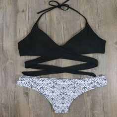 Megan's Bralette Swimwear - Black & Mosaïc