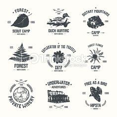 Vector Art : Adventure camp emblems