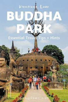 Buddha Park (Xieng Khuan) might just be the funkiest sculpture park you've never visited. Find out why and how to get there from central Vientiane. | Vientiane Laos Things To Do | Things To Do In Vientiane | Laos Travel | Backpacking Laos Tips | Best of Vientiane | What To Do In Vientiane | Where To Go In Laos | South East Asia Backpacking | #Laos #Vientiane # #southeastasiatravel #seasiatravel #visitsoutheastasia