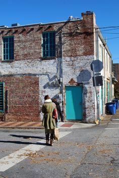 """Newton St, sur la route du resto """"The Grit"""". Athens, Georgia (USA)."""