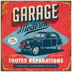 Garage moderne Reproduction d'art