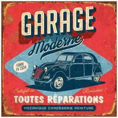 Garage moderne Reproduction d'art