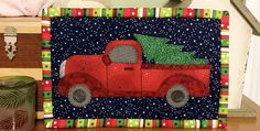 Make Several from Scraps in Just a Few Hours! Wrap this festive mug rug up with a shiny new mug for a quick and charming holiday gift. Just about anyone on your list will enjoy the handsome red truck and freshly cut tree. For many this little quilt will evoke Christmas memories and nostalgia for …