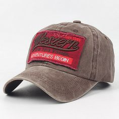 61107c7aed5b6 Men Women Embroidery Letter Cotton Baseball Cap Casual Outdoor Visor  Adjustable Snapback Hat