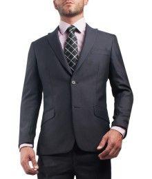 #Traje color gris para #Hombre corte #SlimFit