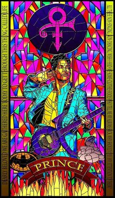 Amazing Prince stained glass art by James Docherty.