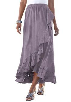 Discount On Eyelet Gauze Skirt