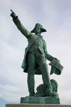 Rochambeau Statue and Monument in King's Park, Newport, Rhode Island