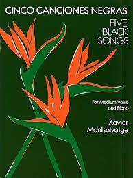 Afbeeldingsresultaat voor cinco canciones negras xavier montsalvatge