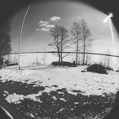 Spring is coming slowly or quickly you decide #spring #winter #snow #iitti #fisheye