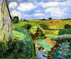 Le Chemin creux / Pierre Bonnard - circa 1922