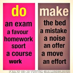Collocations - Do / Make Mais