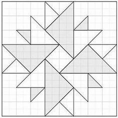 Résultat d'images pour Barn Quilt Pattern Templates Quilt Square Patterns, Barn Quilt Patterns, Patchwork Patterns, Square Quilt, Pattern Blocks, Patchwork Quilting, Quilting Patterns, Crochet Quilt Pattern, Patchwork Cushion