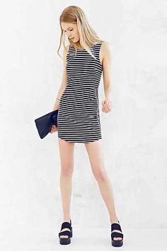 Silence + Noise Striped Ponte Bodycon Mini Dress - Urban Outfitters