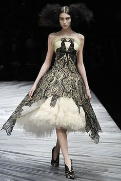 """The peacock dress from one of my favorite McQueen collections; """"The girl that lived in the tree"""" (A/W 2008)"""