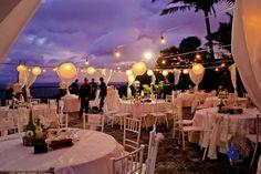 Wedding reception set up. String lights and lanterns Tagaytay Wedding, Wedding Decorations, Table Decorations, Beach Gardens, Wedding Receptions, Wedding Blog, Wedding Ideas, String Lights, Garden Wedding