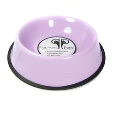 Platinum Pets Platinum Pets 6.25-Cup Embossed Non-Tip Dog Bowl, Sweet Lilac -- For more information, visit image link.