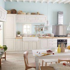 Sol vinyle cuisine : Senso Lock blanc pecan Gerflor chez Leroy Merlin