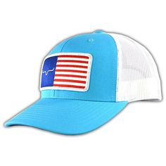 Kimes Ranch American Trucker Turquoise White Snapback Hat at Amazon Men s  Clothing store  a56011cca90b