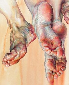 Exquisite drawing/painting of feet