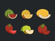 Fruits Icon by Nick Zhukov