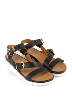 Sandales Plates Femme, Chaussures Femme, Nouvelle, Noir, Womens  Appartements, Sandales Plates, Ss16, Chaussures De Mode 161ff8295a39