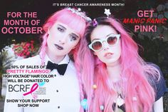 Breast Cancer Awareness Month - Get Pink With Manic Panic At www.bluebanana.com