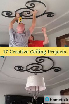 Get these unique ceiling ideas and fall in love with your living space when you join the world's largest home and garden community! decoration house 30 Creative Ceiling Ideas That Will Transform Any Room Ceiling Decor, Ceiling Design, Living Room Ceiling Ideas, Bedroom Ceiling, Ceiling Lighting, Bedroom Lighting, Unique Home Decor, Diy Home Decor, Unique Home Designs