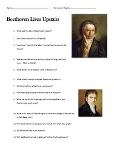 Printables Beethoven Lives Upstairs Worksheet pinterest the worlds catalog of ideas composer specials beethoven lives upstairs