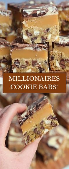 Triple Chocolate Chip Cookie Bars, with Homemade Caramel, and a Triple Chocolate Layer… Millionaires Cookie Bars! Triple Chocolate Chip Cookie Bars, with Homemade Caramel, and a Triple Chocolate Layer… Millionaires Cookie Bars! Triple Chocolate Chip Cookies, Brownie Cookies, Bar Cookies, Cream Cookies, Caramel Cookies, Chocolate Swirl, Caramel Cookie Recipe, Homemade Caramel Recipes, Mini Eggs Cookies