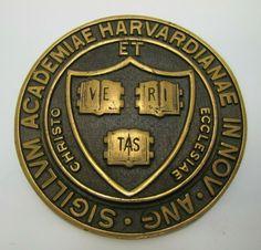 HARVARD UNIVERSITY Old Embossed Brass Plaque Sign Sigillum Academiae Harvardiana | eBay Brass Plaques, Flag Pins, Fire Doors, Harvard University, Personalized Items, Signs, Ebay, Shop Signs, Sign