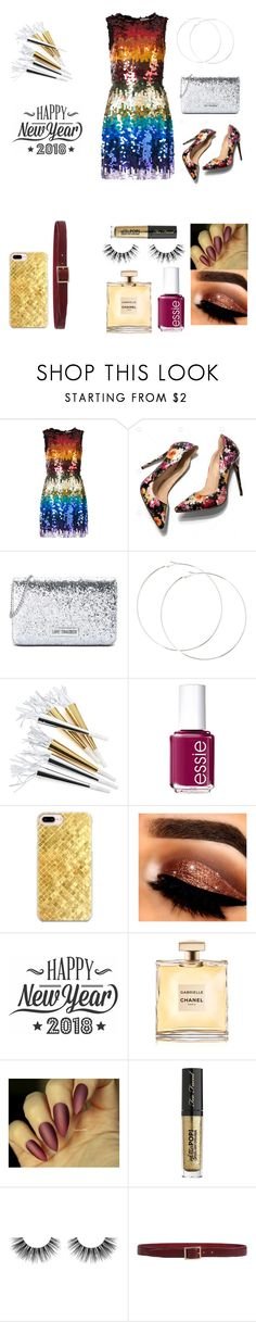 """Happy New Year!!!!!!"" by baelovesfashion on Polyvore featuring Alice + Olivia, Love Moschino, Crate and Barrel, Essie, Casetify, Cricut, Too Faced Cosmetics, Velour Lashes and Orciani"