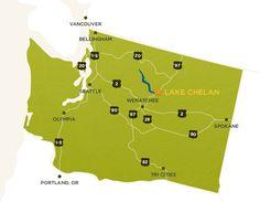 Map of Lake Chelan
