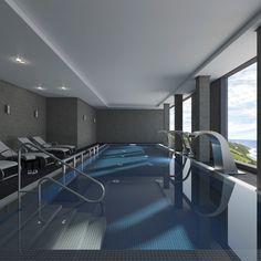 Imagen del Spa del edificio de viviendas situado en San Roque, Cádiz Spa, Bathroom, Buildings, Architecture, Interiors, Washroom, Full Bath, Bath, Bathrooms