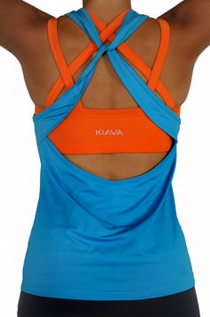 The Blue Knotty Top and Tangerine Endurance Bra!