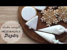 CUKORMÁZ✨ÍRÓKA✨GLAZÚR - mézeskalács díszítés❤️ - BebePiskóta - YouTube Apple Cake, Gingerbread, Christmas Decorations, Cookies, Baking, Creative, Youtube, Food, Harry Potter