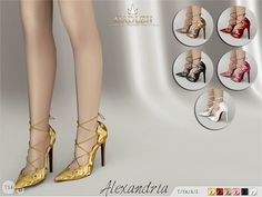 Hibiskus Shoes for The Sims 4 | The sims 4 roupas, Sims e