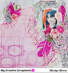 Marilyn Rivera- a DT work for My Creative Scrapbook- Limited Edition kit featuring Garden Fable by Prima Marketing.