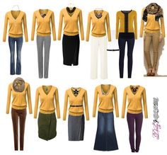 Daily Glam & Style and purchasing advice Soll ich das kaufen? Senf Strickjacke The post Daily Glam & Style und Kaufberatung & Klamotten appeared first on Mustard yellow . Mustard Cardigan Outfit, Yellow Cardigan Outfits, Sweater Outfits, Mustard Yellow Outfit, Glam Style, Bluse Outfit, Capsule Outfits, Ideias Fashion, Fashion Outfits