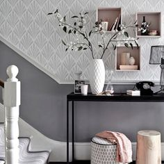 If you're looking for subtle, understated décor with a generous dose of sophistication, opt for a classic grey and dusky-pink colour scheme. One of the few home trends that can be re-worked year after year, it's perfect for almost every room in the house, whatever your style.