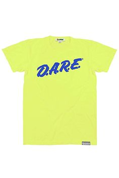 b3dd2a6b353 Tipsy Elves Men s Neon Yellow Dare Shirt - Retro Neon 80 s Clothing Tee (X-
