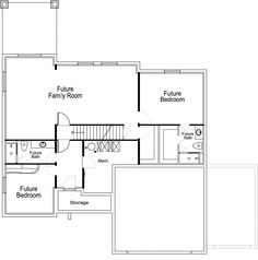 Rockwell Ivory Homes Floor Plan - Basement Level