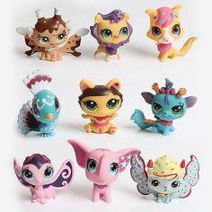 MINI Doll Lot 10 PCS Littlest Pet Shop Dog Loose Child Girl Toys LPS Gift New Kids Action Figure Toys Robot