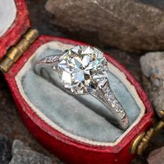 Vintage Engagement Rings | Antique Diamond Rings | EraGem Estate Engagement Ring, Antique Engagement Rings, Antique Diamond Rings, Vintage Diamond, European Cut Diamonds, October Birth Stone, 2 Carat, Diamond Cuts, Fine Jewelry