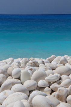 White and all shades of blue... Myrtos beach, Kefalonia island ~ Greece | Ocean Blue COTM