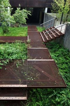 Best Elevated Galv Steel Grating Walkway Detailing 400 x 300