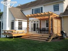 Low Elevation Deck with arbor